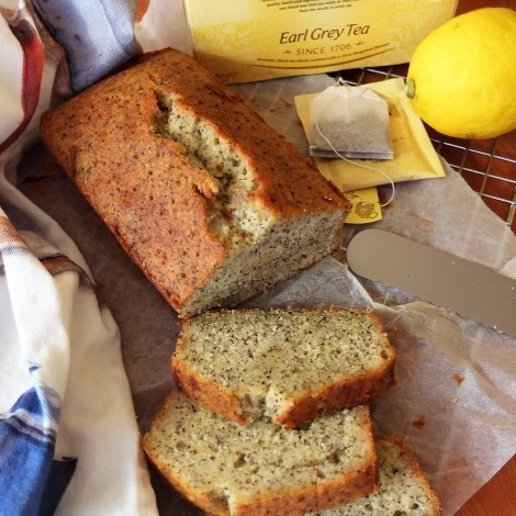 Earl grey tea and lemon loaf cake