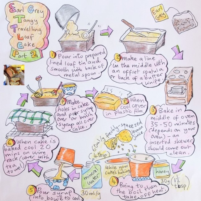 Earl Grey tea and lemon loaf cake illustrated recipe part 2