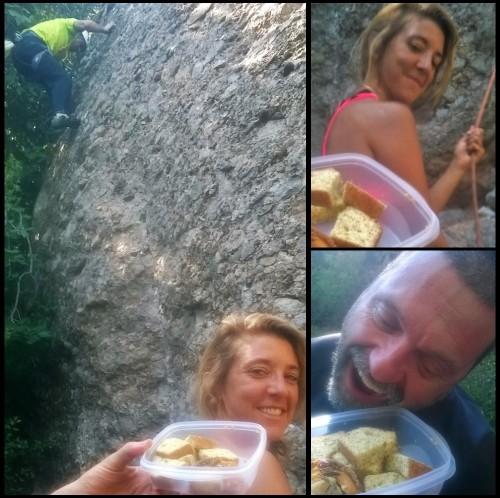 Earl grey tea loaf cake and climbing
