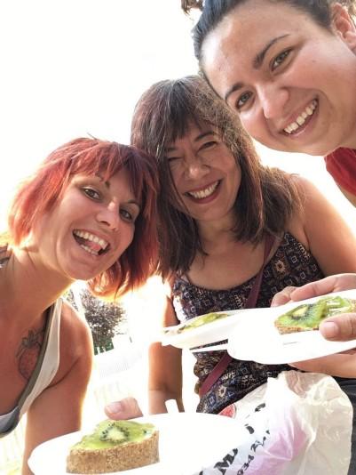 Kiwi tart before climbing