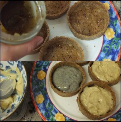 Making healthier buckwheat pastry kiwi tarts