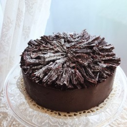 Feuille d'Automne - Lenotre's dark chocolate mousse and meringue cake