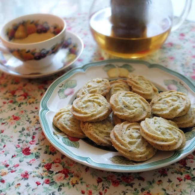 Earl Grey melting moments biscuits (cookies)