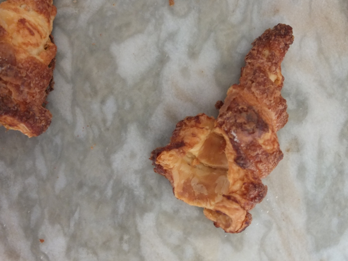 Failed puff pastry horn