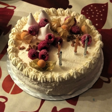 Raspberry-salted caramel vacherin glacé ice-cream cake