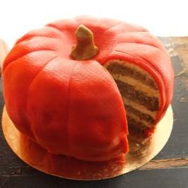 Pumpkin, lemon and Earl Grey tea layer cake!