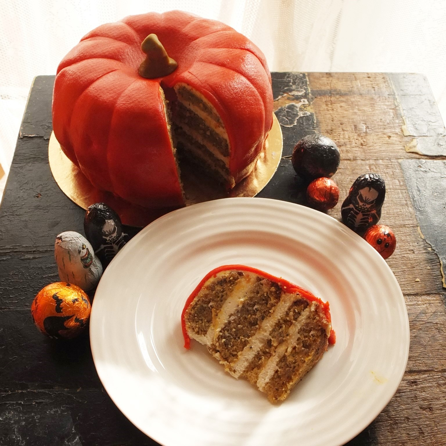 pumpkin cake recipe! A pumpkin, lemon and Earl Grey tea layer cake ...