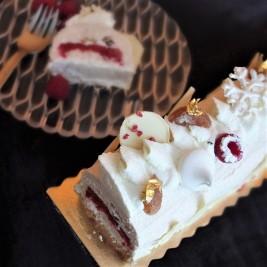 The Sparkly - Raspberry, chestnut and meringue log cake