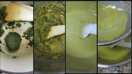 making-matcha-souffle-sponge
