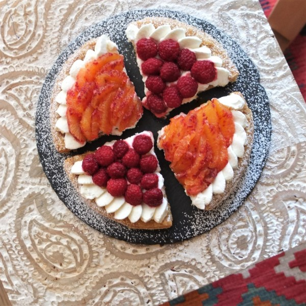 Blood-orange-and-raspberry-puff-pastry-tart