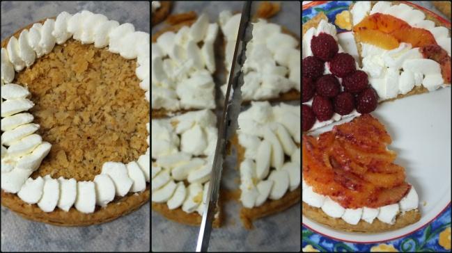 Fresh fruit and cream puff pastry tart