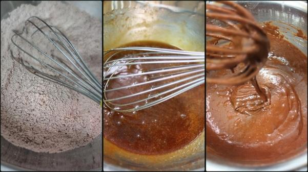 Making vegan chocolate cake 1