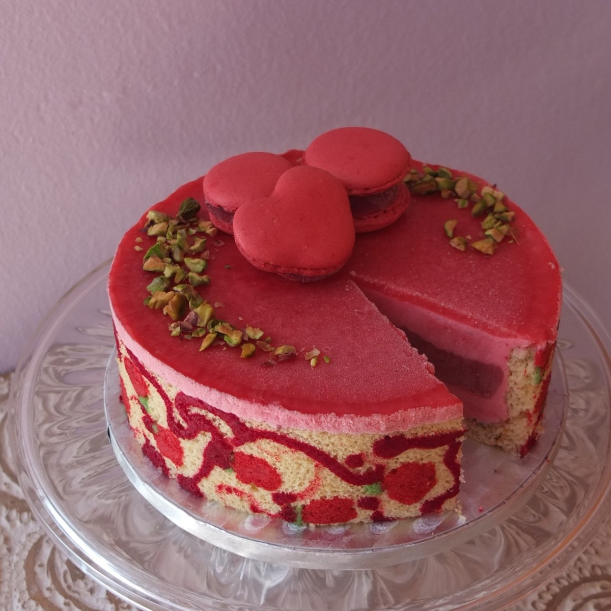 Ultra raspberry cloud mousse cake recipe!