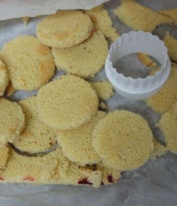 genoise sponge layer discs - citrus passion