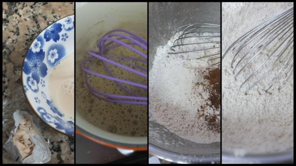 Making hot cross bun dough 1