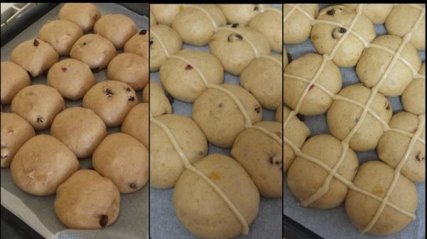 Making hot cross bun dough 10