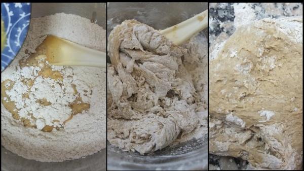 Making hot cross bun dough 2