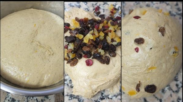 Making hot cross bun dough 6