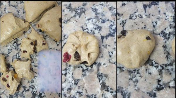 Making hot cross bun dough 7