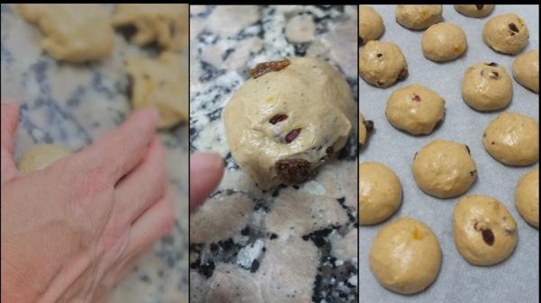 Making hot cross bun dough 8