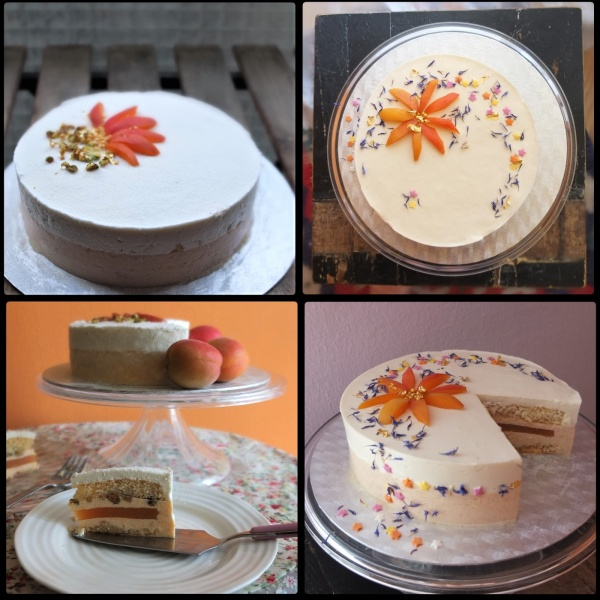 Apricot sunshine mousse cake decoration