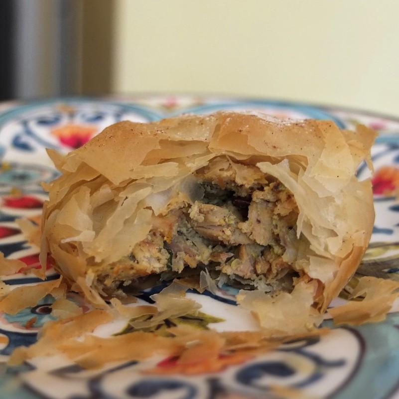 Moroccan chicken pie