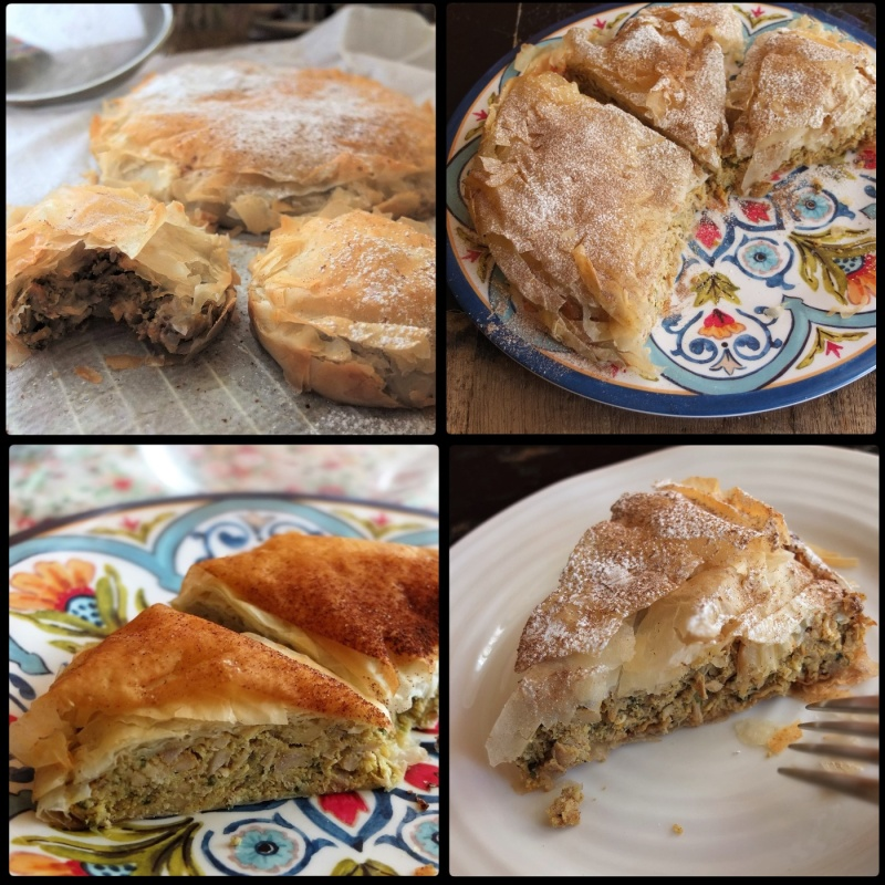 Moroccan chicken pies