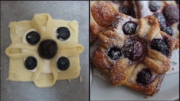 Flower fruit puff pastries