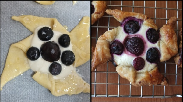 Pinwheel fruit puff pastries