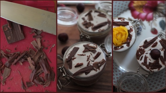 Toppings - mangoffee, cheroffee and banoffee pie in a jar