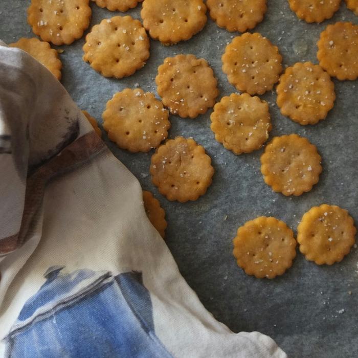 Homemade ritz-style crackers, glutenfree or not