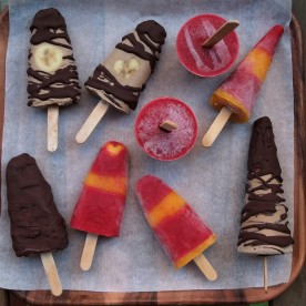 mocha ice lollies or chilli mango and raspberry yoghurt