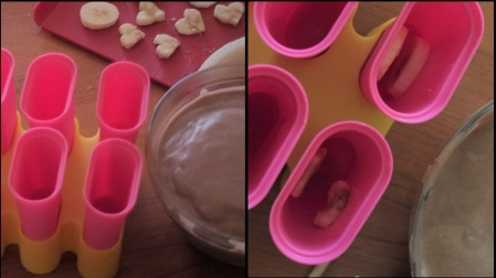 Making mocha ice lollies 2