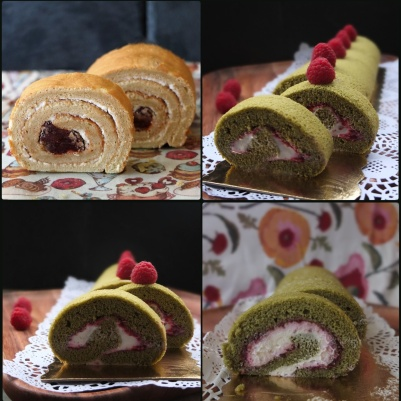 Matcha swiss roll prototypes