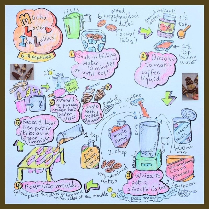 Mocha love ice lollies illustrated recipe