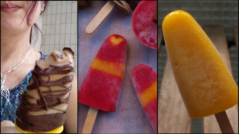 Mocha or Mango and raspberry ice lollies