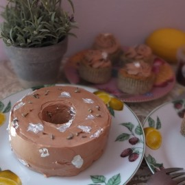Earl Grey tea, lemon and lavender mini chiffon cakes and cupcakes, glutenfree and low sugar