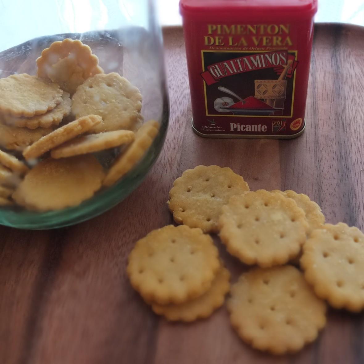 Vegan homemade ritz-style crackers, glutenfree