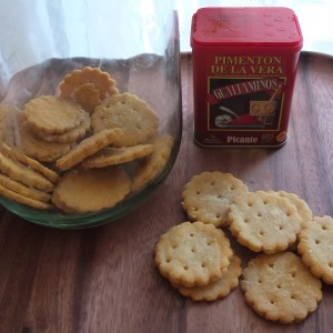Vegan homemade ritz-style crackers, glutenfree