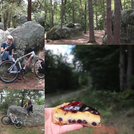 Cycling, boulders and cakes in Fontainebleau forest