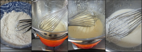 Lemon sponge making 1