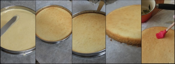 Lemon sponge making 3