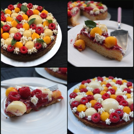 Melba lemon mint constellation tart prototypes