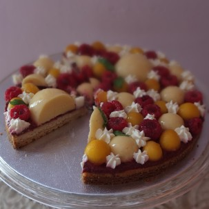 Melba Lemon Mint Constellation: raspberry, lemon and peach tarte Fantastik