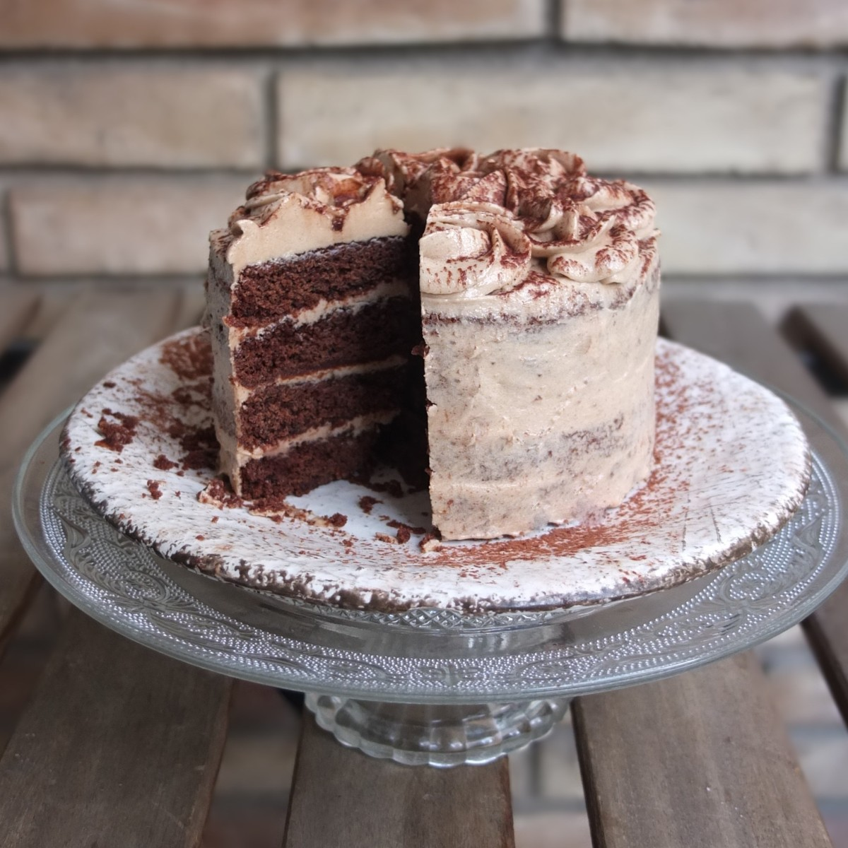 Vegan mini mocha layer cake or cupcakes recipe - gluten free ... or not!  And Paris Cake Tour no. 2!