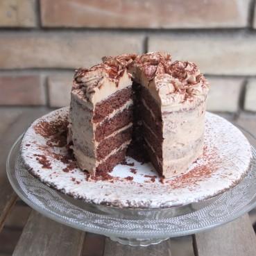 Vegan mocha layer cake