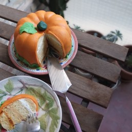 Princess turned pumpkin cake