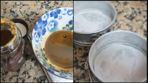 Mocha layer cake - preparation