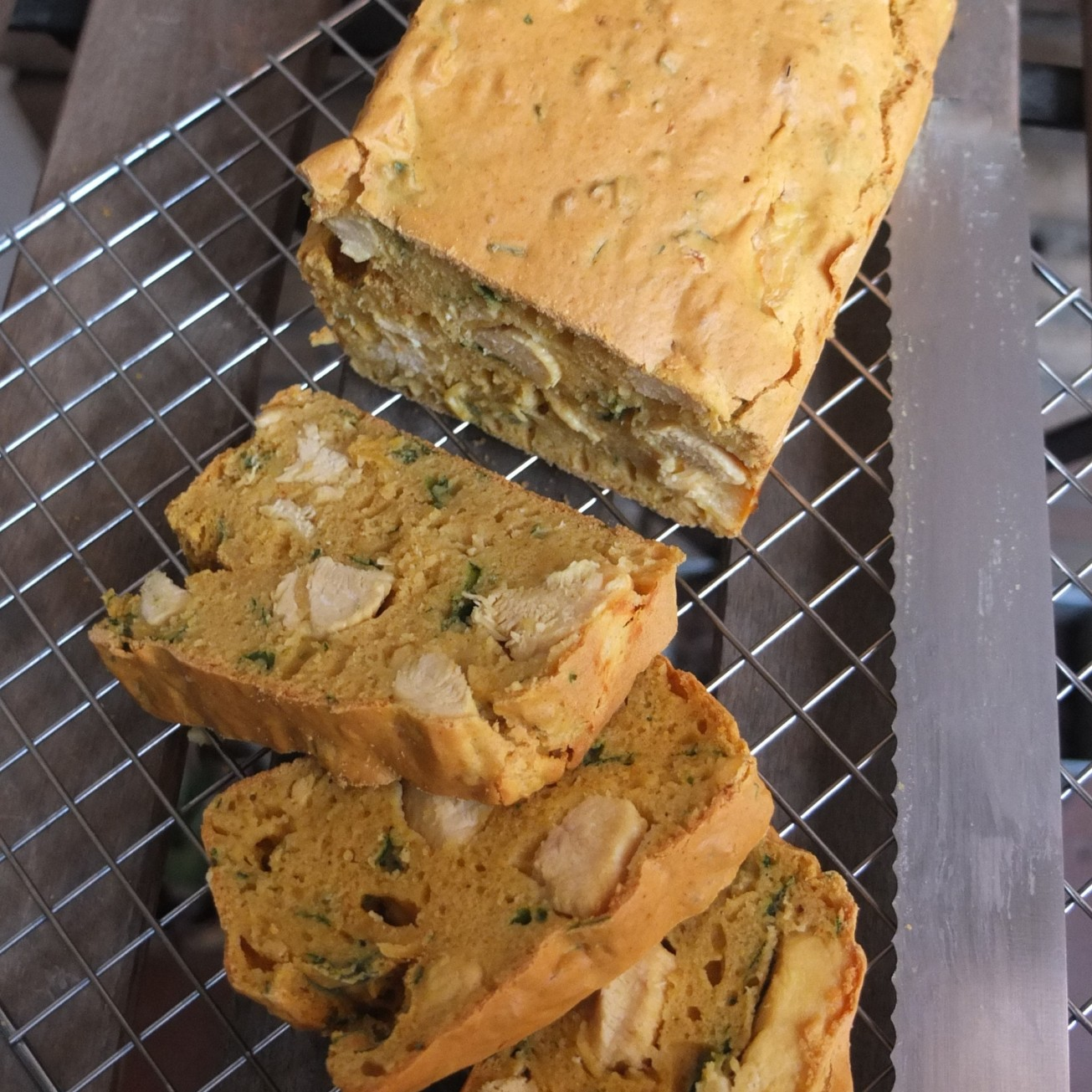 Chicken curry and coriander loaf