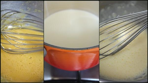 Making chestnut crème brulée 1